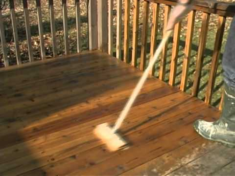 Wood Deck Staining - How to Remove Failed Stain