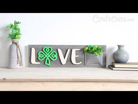 Love Shamrock Reclaimed Wood Sign for St. Patrick's Day!