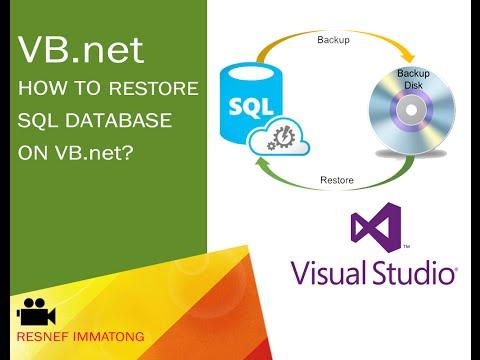 How to restore SQL database on vb.NET/ visual studio?