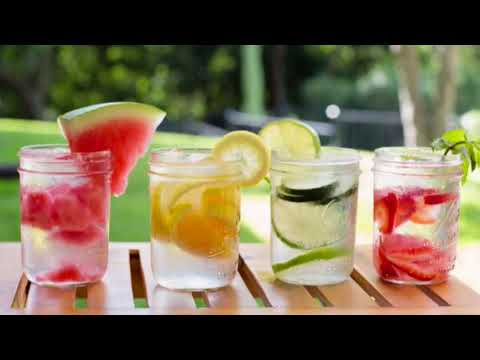 How To Make Detox water/ 7 detox water recipes/flavoured water recipes