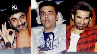 Ranbir Kapoor, Karan Johar & Aditya Roy Kapoor Go On A Movie Date | Bareilly Ki Barfi
