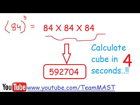 Aptitude shortcut trick to find cube of a number using Vedic Maths in 4 seconds | Team MAST