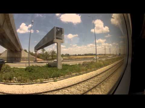 Israeli Train - from Jerusalem to Tel Aviv