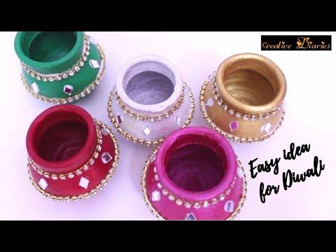 Very Easy cute idea for Diwali decoration at home I DIY Diwali decor I Creative Diaries