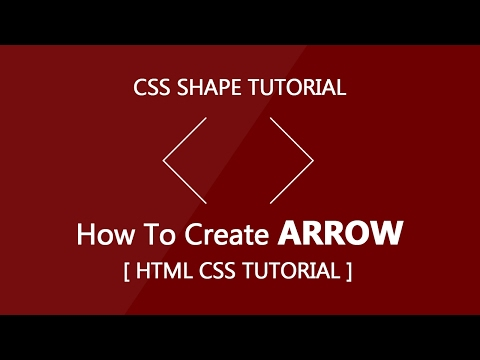 Create Arrow with css - Html Css Tutorial