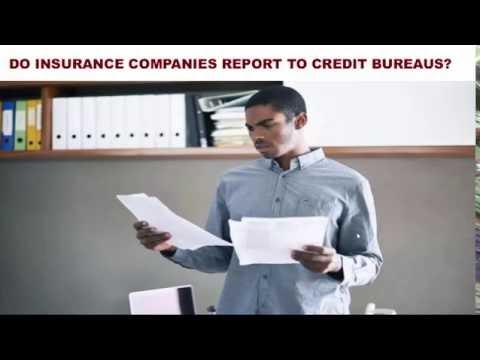 Do Insurance Companies Report To Credit Bureaus