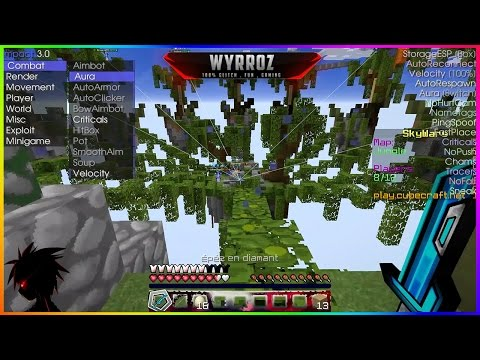 MINECRAFT 1.11.2 | SKYWARS FLY KILL AURA AND MORE NO KICK THE BEST PVP CLIENT 2016