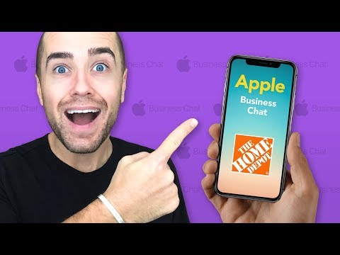 Purchasing a Smart Lock from Home Depot Using iOS 11.3 Apple Business Chat