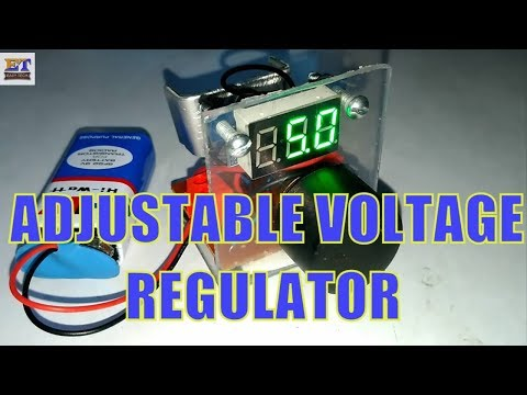 Adjustable Voltage Regulator at Home