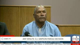 The Moment O.J. Simpson Granted Parole in Nevada 7/20/17
