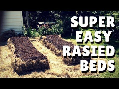 Hay Bale Garden - Instant Raised Beds!