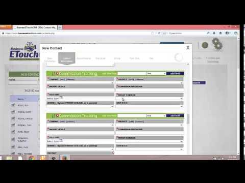 BusinessETouchCRM Commission Tracking