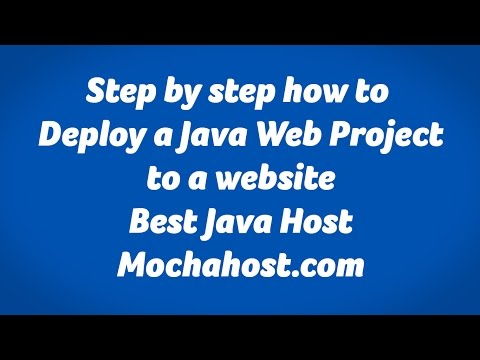 How to deploy Java web project  to a real website