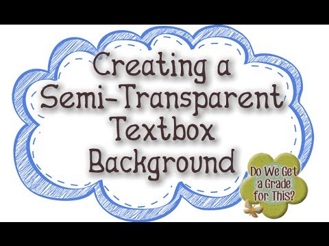 Creating a Semi Transparent Textbox Background