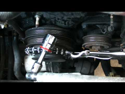 Removing crankshaft pulley bolt