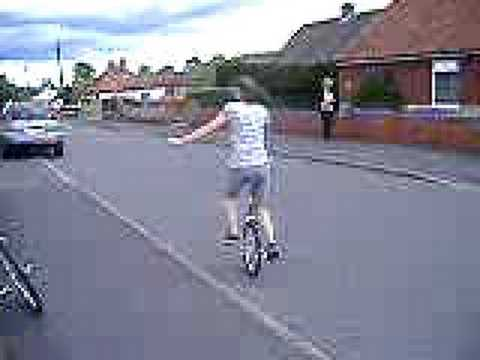 Me mounting my unicycle without a wall