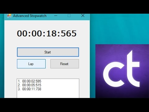 Visual Basic .NET Tutorial #8 - How to create an advanced stopwatch (w/ Laps)