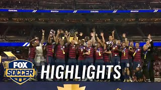 Watch the USMNT's Gold Cup trophy celebration | 2017 CONCACAF Gold Cup Highlights