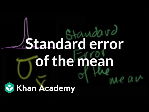 Standard error of the mean | Inferential statistics | Probability and Statistics | Khan Academy