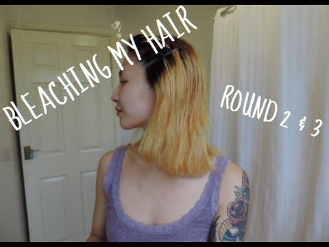 Going White Blonde In One Night Bleaching Hair Twice