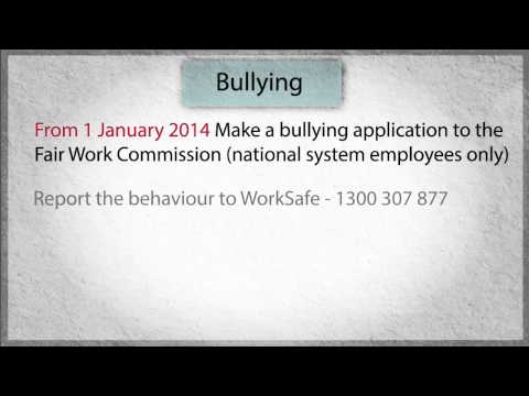 Employment Law in WA: 11. What can you do about bullying?