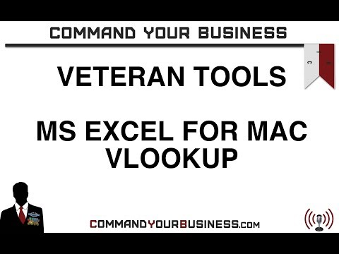 How to: Vlookup Microsoft Excel 2011 for Mac