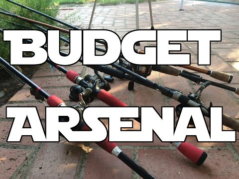 My Budget Rod And Reel Arsenal - Bass Fishing