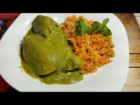 Pollo en Mole Verde fácil | Cocinando con angel