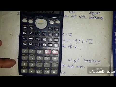 How to find imaginary root from quadratic equation using calculator