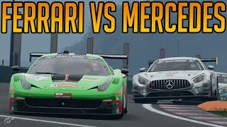 Gran Turismo Sport: Fantastic Ferrari Vs Mercedes Fight
