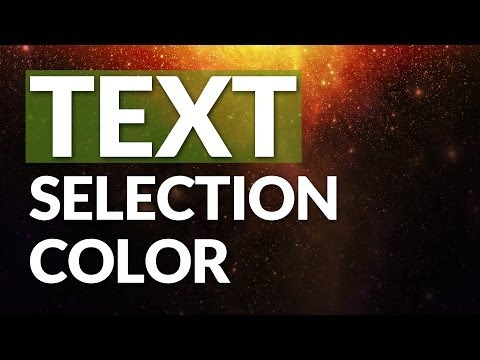 Change Text Selection Color: CSS Code Snippet