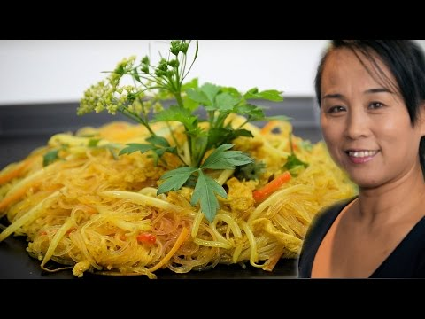 Singapore Stir-Fry Noodle Recipe (Chinese Style Cooking)
