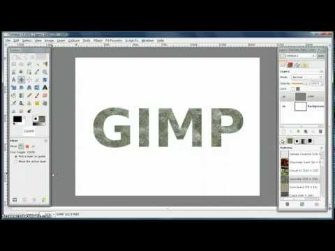 GIMP Tutorial - how to make custom patterns
