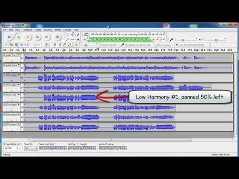 Harmony Recording In Audacity with USB Mic