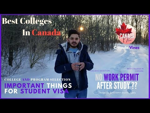 Which Program to apply In Canada?? !! Best Colleges In Canada !! Student Visa Canada