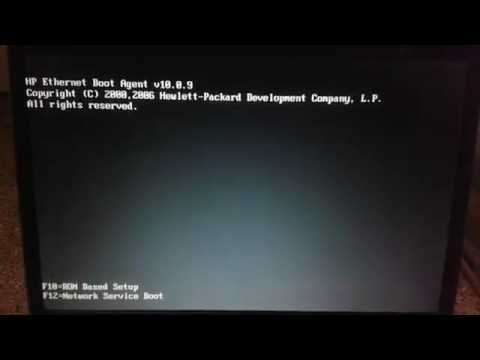 Non-system disk or disk error replace and strike any key when ready for hp