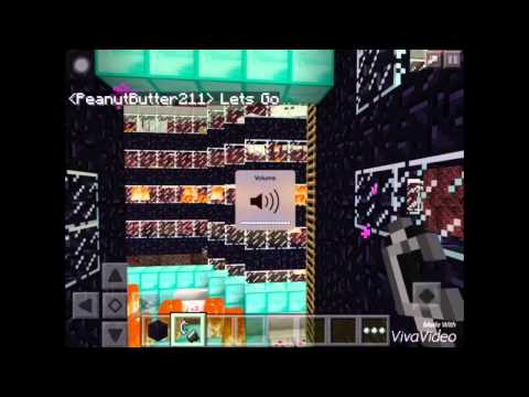 Minecraft Pe || How To Make || Nether Portal || 0.12.1