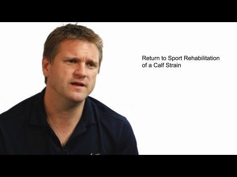 Return to Sport Rehabilitation of a Calf Strain