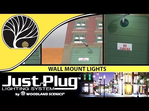Wall Mount Lights | Just Plug® Lighting System | Woodland Scenics | Model Scenery