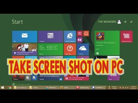 How To Take a Screenshot On a Pc Windows 8,8.1,10