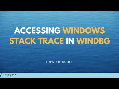 Accessing Windows Stack trace in WINDBG