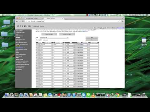 สอนการ forwordport router belkin สำหรับเครื่อง HIKVISION
