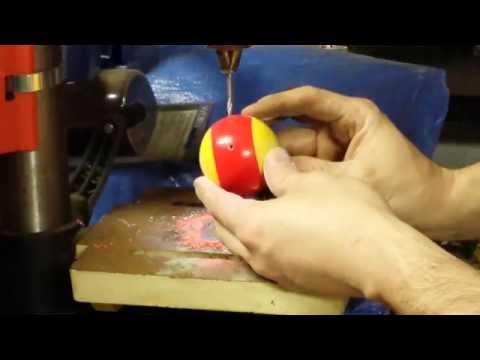 Drilling through a Billiard Pool Ball