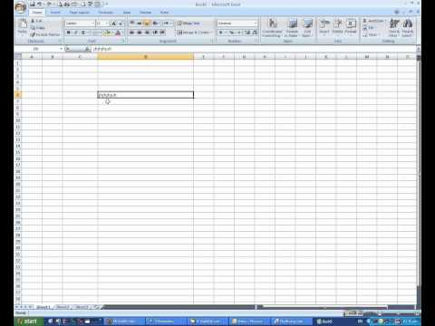 02- Excel 2007- Modifying Columns, Rows, & Cells