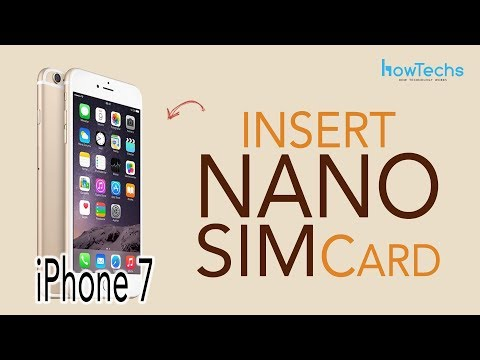 iPhone 7 - How to Insert SIM Card