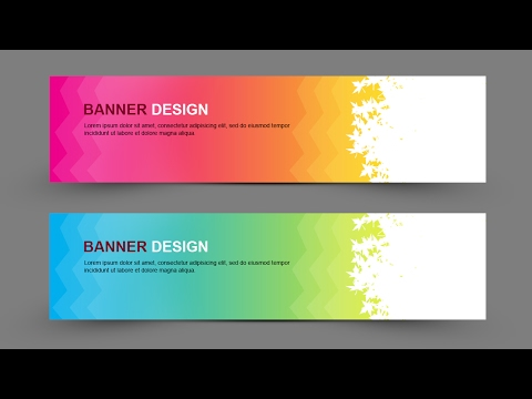 Learn How to Create Simple Banner Design In Photoshop - Photoshop for Beginners
