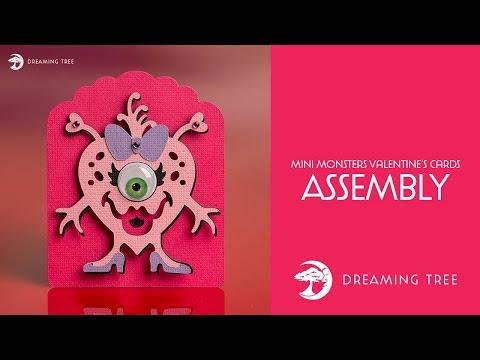 SVG File - Mini Monsters Valentine's Cards SVG - Monster A