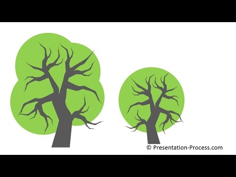 How to Use Bezier Curve in PowerPoint to create Tree: Series Part 3