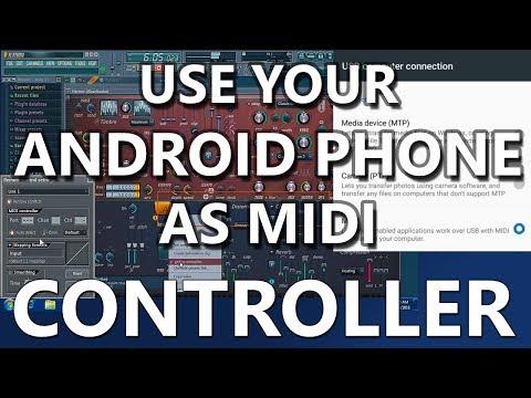 Android 6 mobile as Midi controller - usb to midi