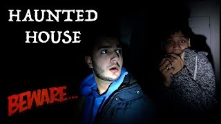 WE WENT INSIDE A HAUNTED HOUSE!
